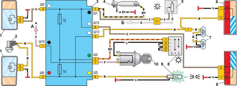 Установка LC-7-V09 в ВАЗ 2107