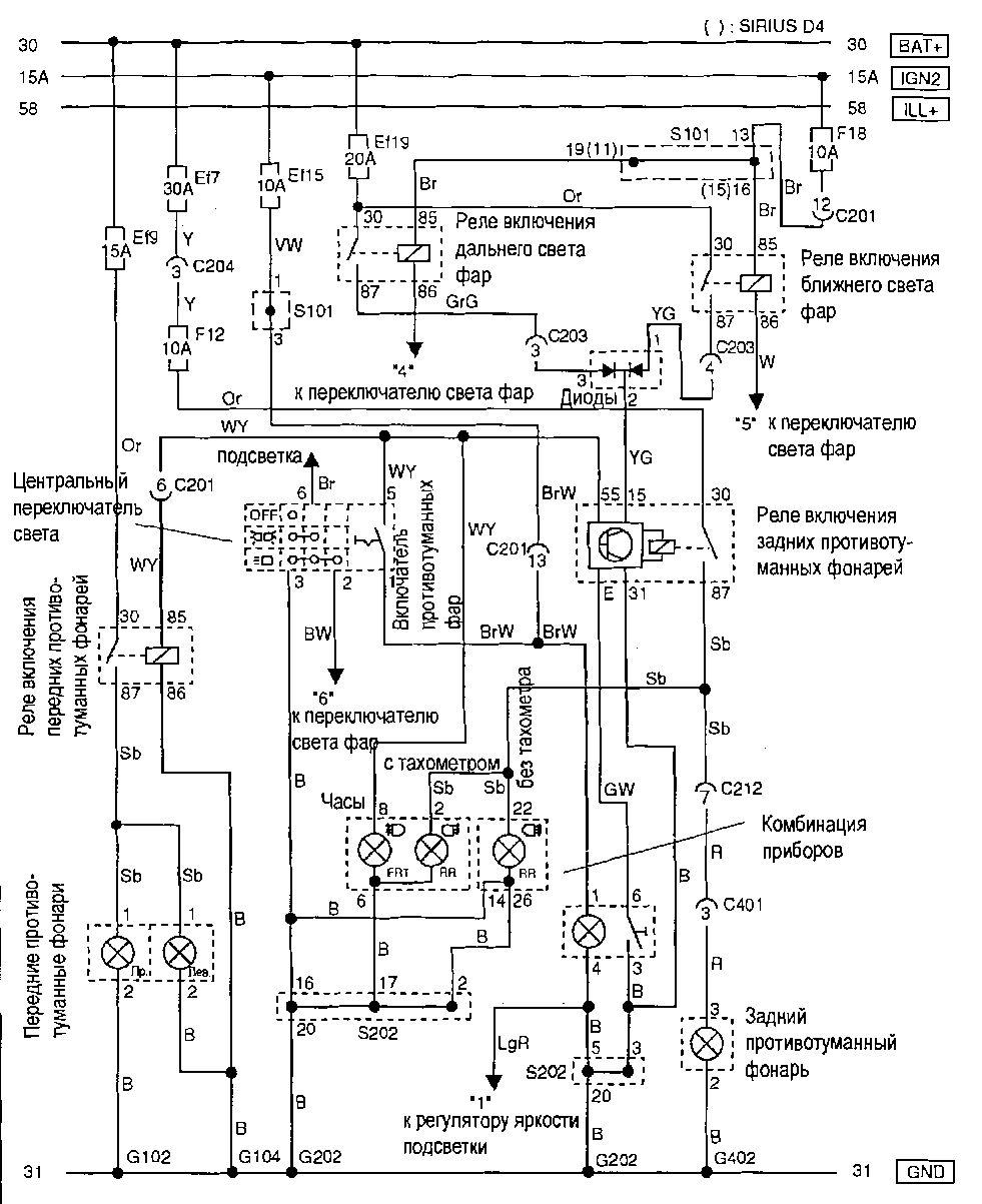 схема реле на шероле нива